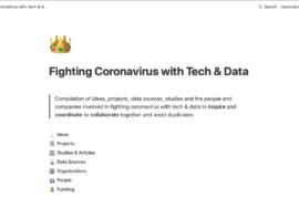 Luchar al Coronavirus con tecnología y datos